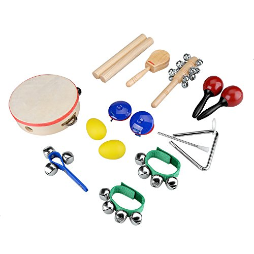 Toy Drum Musical Instruments : Innocheer kids musical instruments tambourine set astm