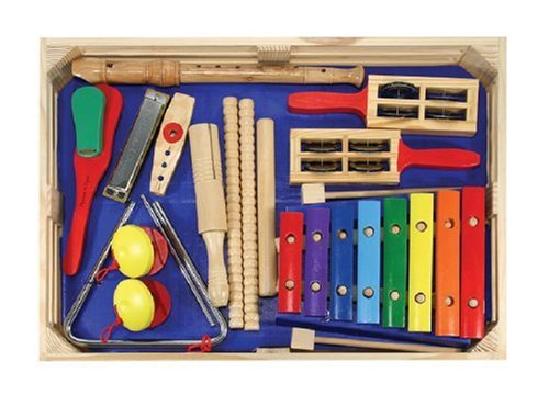 Band Game Toy : Melissa doug deluxe band set with wooden musical